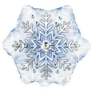 Prism Snowflake Mylar Balloon (pack of 10)