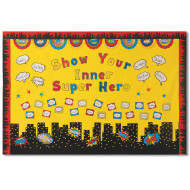 Superhero City Scape Bulletin Board Set