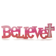 Wood Believe Sign (pack of 6)