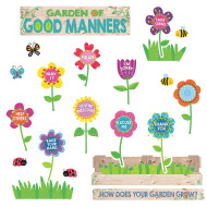 A Garden of Positive Behavior Bulletin Board Set (set of 58)