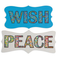 Wish and Peace Stitching Plaques (makes 24)