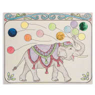 Color and Foil Circus Elephants Craft Kit (makes 12)