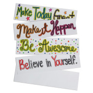 Blank Self-Adhesive Bumper Stickers (makes 24)