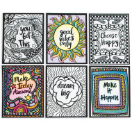 Think Positive Velvet Art Posters (pack of 24)