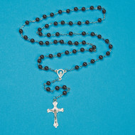 Rosary Beads, Black (pack of 12)