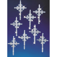 Crystal Beaded Cross Ornament Kit (makes 24)