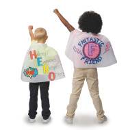 "Color-Me™ Super Hero Mini Capes, 18""L (makes 12)"