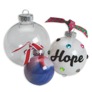 Clear Top-Fill Ornaments (pack of 12)