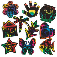 Scratch-Art® Creative Shapes (pack of 50)