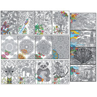 Joy of Coloring Poster Set (set of 4)
