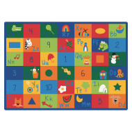 LEARNING BLOCKS RUG 4FT 5IN X 5FT 10 IN