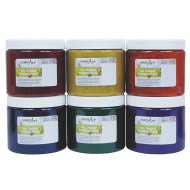 Handy Art® Glitter Washable Finger Paint (set of 6)