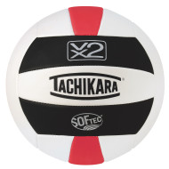 Tachikara® SofTec® VX2 Volleyball (Black, White, Scarlet)
