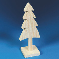 Unfinished Wooden Pine Trees (pack of 6)