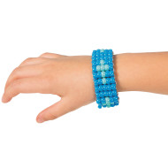 Pony Bead Blue Cross Bracelet Kit (makes 6)