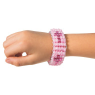 Pony Bead Pink Cross Bracelet Kit (makes 6)