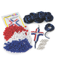 Patriotic Beaded Cross Kit (makes 12)