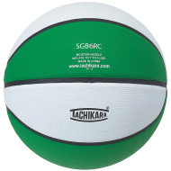 Tachikara Rubber Basketball, Green/White
