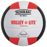 Tachikara® Volley Lite Volleyball, Scarlet/White/Black