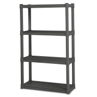 Sterilite® Durable 4-Shelf Shelving Unit