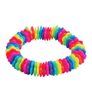 Rainbow Bead Bracelet Craft Kit (makes 12)