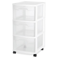 3 DRAWER STORAGE CART