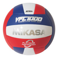 Mikasa® Premium Leather Indoor Volleyball, Red/White/Blue