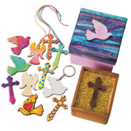 Christian Shaped Wood Pendants (pack of 50) (pack of 50)