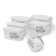 Sterilite® Ultra-Seal™ 2QT Clear with White Flip Top Container (pack of 6)