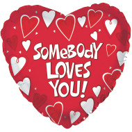 "17"" Somebody Loves You Mylar Balloon (pack of 10)"
