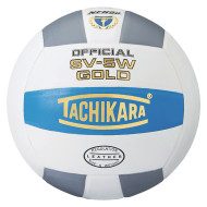 Tachikara® SV-5W Leather Volleyball, College Blue/White/Silver Gray