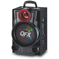 QFX PBX9080 Portable Rechargeable Battery Powered Bluetooth PA Speaker With Microphone