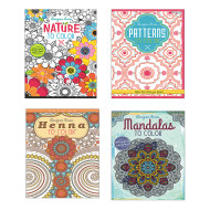 Adult Coloring Books Easy Pack ( of 24)