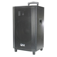 QFX E-15 Portable Rechargeable Battery Powered Bluetooth PA Speaker With Wheels