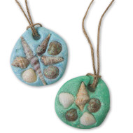 EduCraft® Sand Dollar Necklace Craft Kit (makes 48)