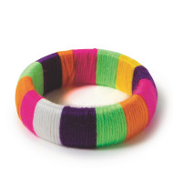Yarn Bangle Bracelet Craft Kit (makes 12)