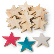 Wooden Stars  (pack of 25)