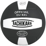 Tachikara® 18S Composite Volleyball, Black/White
