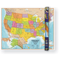 USA Map Wall Chart With Interactive App