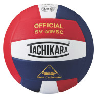 Tachikara® SV5WS Super Soft Composite Volleyball, Scarlet/White/Navy