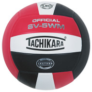 Tachikara® SV-5WM Performance Volleyball, Scarlet/White/Black