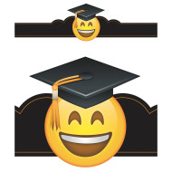 Emoji Fun Graduation Crowns (pack of 30)