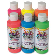 8-oz. Color Splash!® Neon Acrylic Paint  (set of 6)