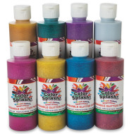Color Splash!® Washable Glitter Paint, 8 oz. Assortment (pack of 8)