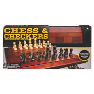 Wooden Chess And Checkers Set