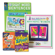 Sight Words And Rhyming Words Easy Pack (pack of 4)