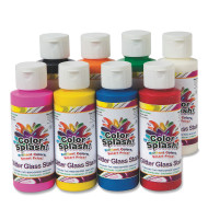 4-oz. Color Splash!® Glitter Glass Stain Assortment (pack of 8)