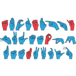 WONDERFOAM MAGNETIC SIGN LANGUAGE LETTERS
