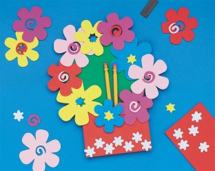 Foam Magnet Flower Pocket© Holder Craft Kit
