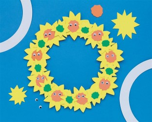 SUNFLOWER WREATH PK/12